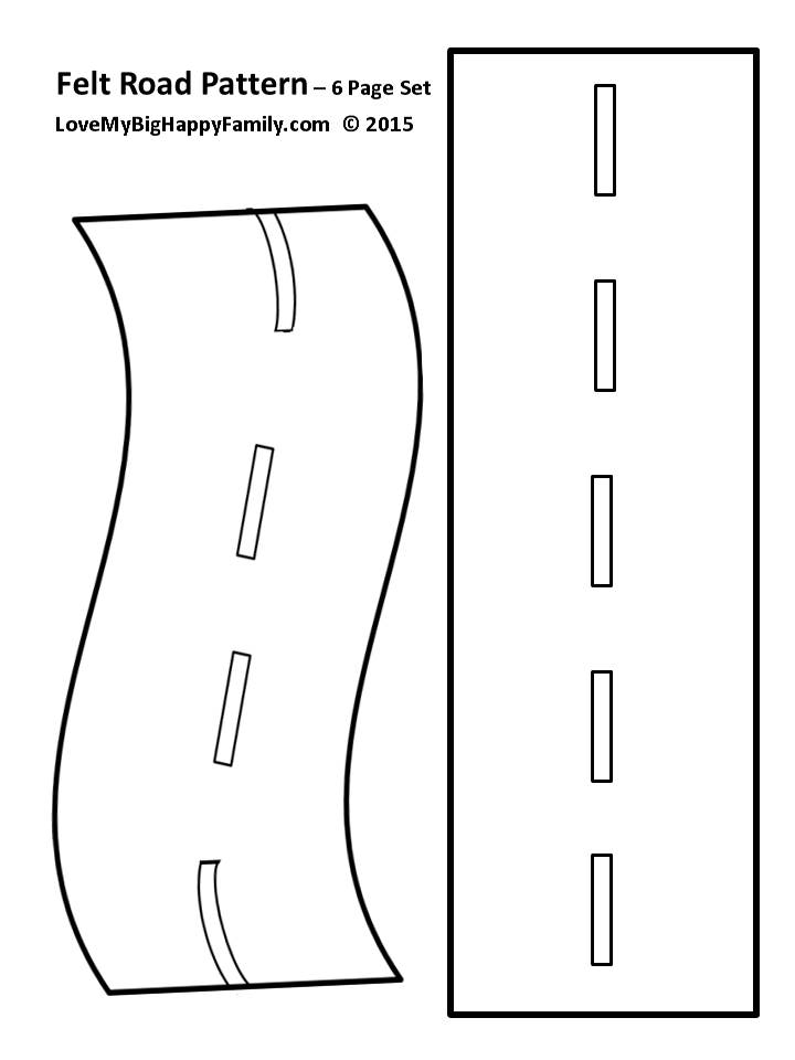 graphic about Matchbox Template Printable known as Felt Roadway Habit - Produce your private roadway for the youngsters!