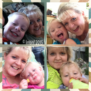 Silly Selfies with Grandkids!