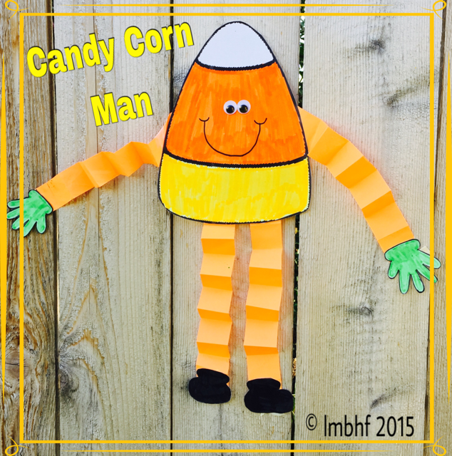 picture regarding Candy Corn Printable known as Sweet Corn Male Printable Craft - Downloadable Craft for Little ones