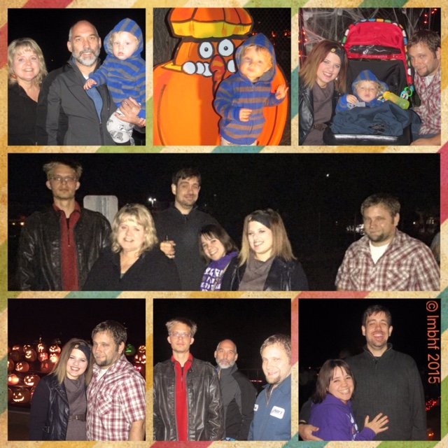 Family at the Pumpkin Walk
