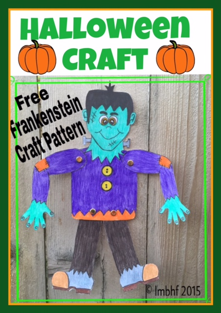 picture relating to Halloween Crafts for Kids+free Printable identify Frankenstien Craft for Small children - Cost-free Halloween Printable