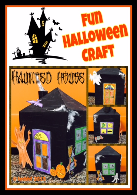 photograph about Halloween Craft Printable identify Haunted Area Craft - Absolutely free downloadable, printable