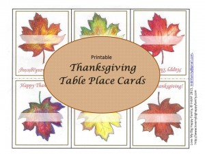 Table Place Cards Thanksgiving - Advertisement