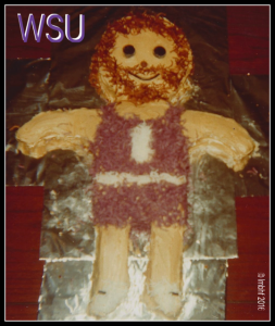 My sister made this cake for me when I was a teenager and obsessed with the university basketball team.