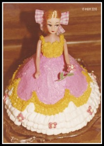 I made this doll cake and donated it to a fund raiser when I was a teen. I watched a little girl buy it and was so excited!