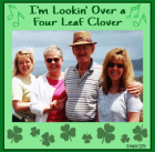 My Dad loved to sing - I'm Lookin' Over a Four Leaf Clover!  Dad with two of my sisters and me.