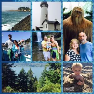 Collage of Oregon Coast Vacation!