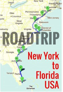 Road Trip New York to Florida