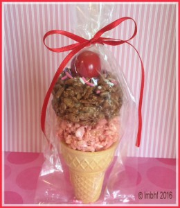 Rice Krispie Treat Ice Cream Cone