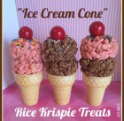 """Ice Cream Cone"" Rice Krispie Treats!"