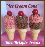 Rice Krispie Treats that look like ice cream cones!