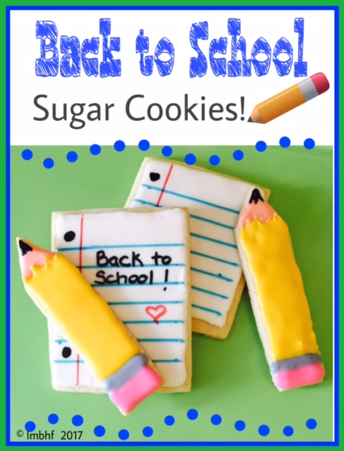 Back to School Sugar Cookies