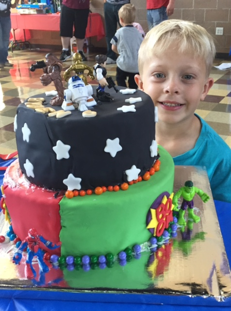 comic con birthday cake