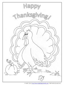 Thanksgiving Coloring Page - Turkey ~ Love My Big Happy Family