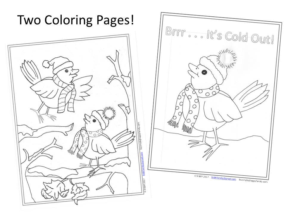 Coloring Pages - Feathered Friends Enjoying Winter! ~ Love My Big