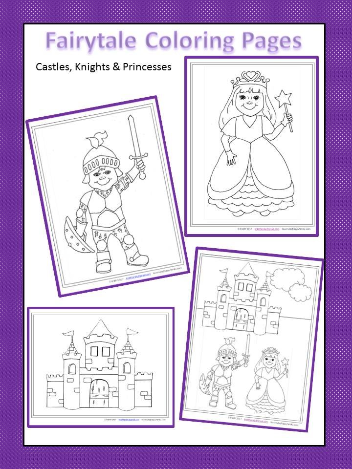 Castles, Knights and Princess Free Printable Coloring Pages