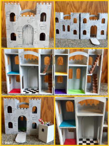 Closeups of the finished castle.