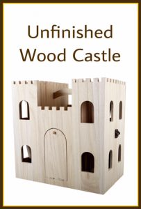 DIy Project - Unfinished Wood Castle