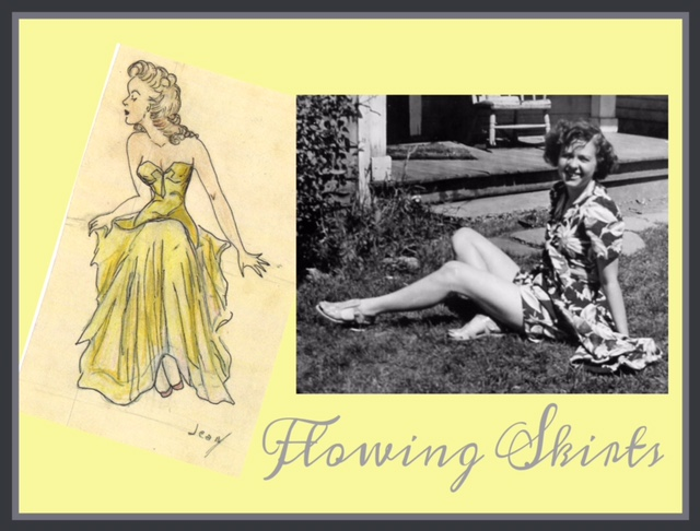 Drawings of Pretty Ladies from the 1940's
