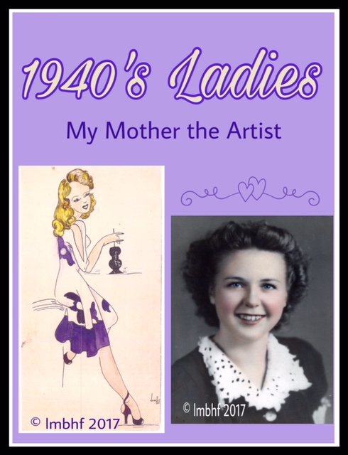 Drawings of Ladies in 1940s