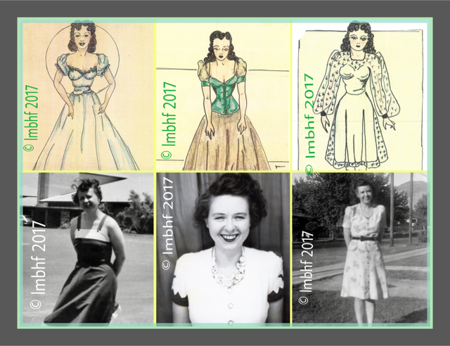 Drawings of Ladies from the 1940's
