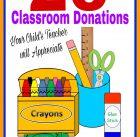 20 Classroom Donations