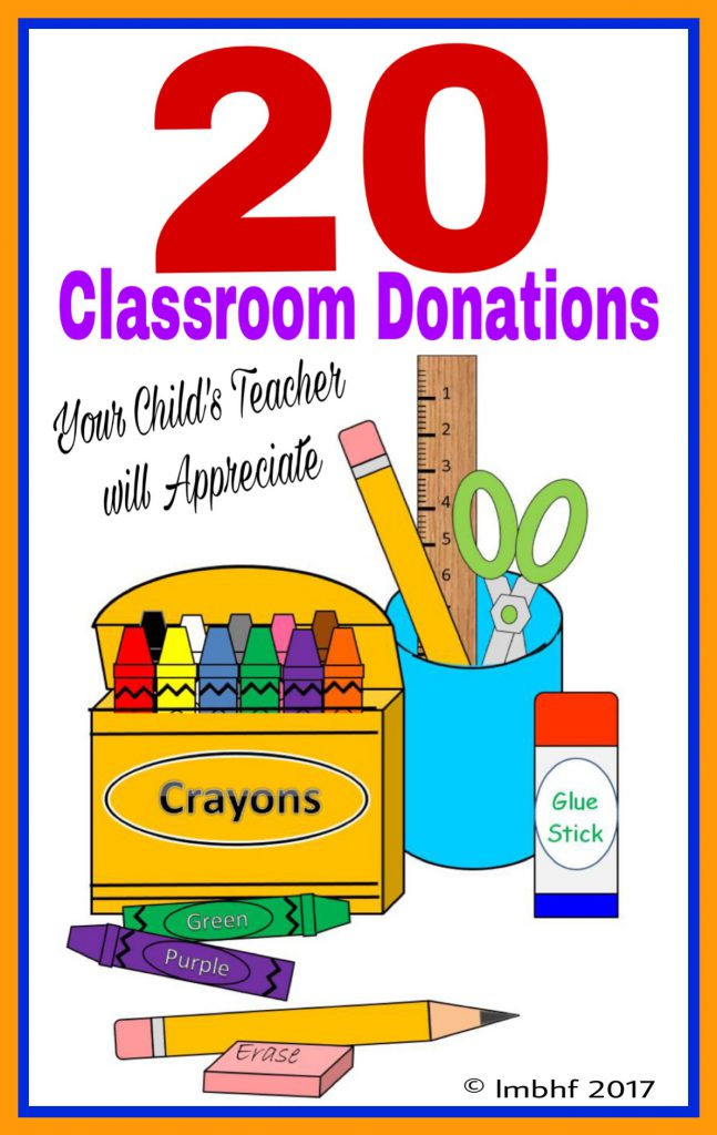 20 Classroom Donations