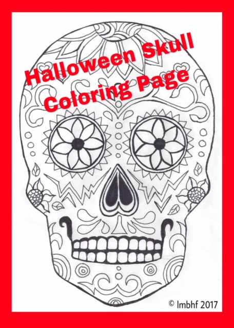 Skull and candles - Halloween Adult Coloring Pages | 640x456