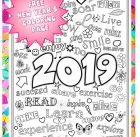 New Year 2019 Coloring Page