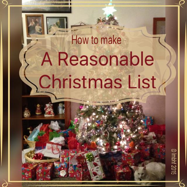 A Reasonable Christmas List