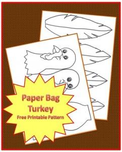Turkey Paper Bag Craft Advertisement